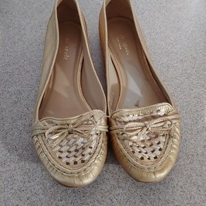 Gold Kate Spade Loafers
